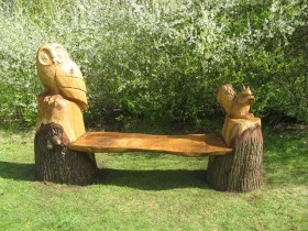 Fabulous bench in the garden