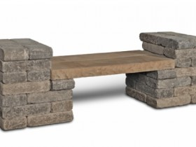 The idea of stone benches