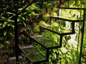 Glass garden stairs