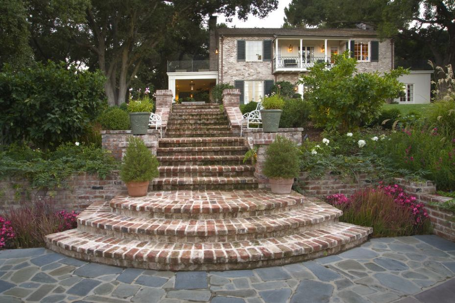 Садовые лестницы фото
