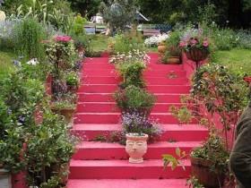 Креативная садовая лестница
