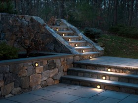 Decorative lighting outdoor stairs