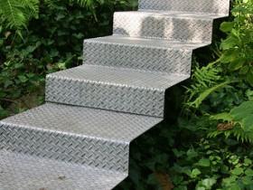 Metal garden stairs