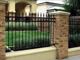 Wrought iron fence for garden