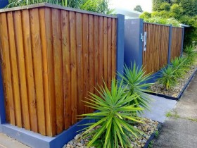 The design of wood fence