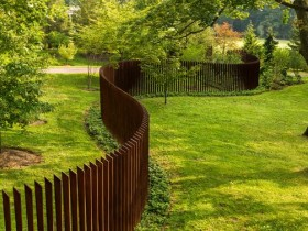 Creative wooden fence