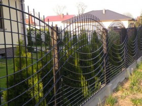 Decorative fence made from metal