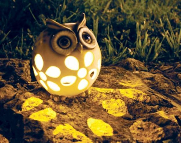 Декоративный фонарик для дачи