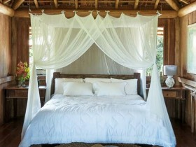 Bedroom with a canopy bed