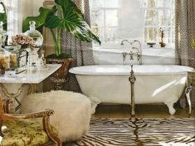 Интерьер ванной комнаты в стиле сафари
