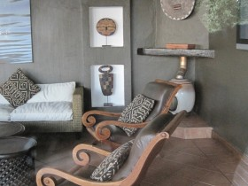 Safari style in interior room