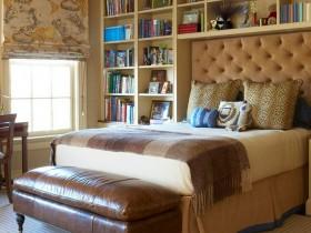 Современный интерьер спальни в стиле сафари