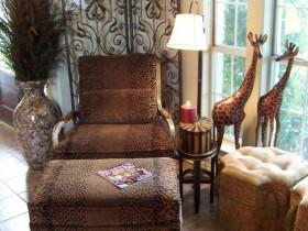 Furniture and accessories in Safari style