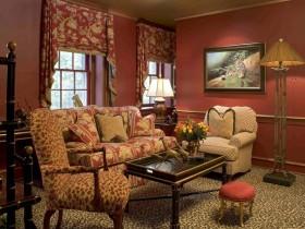 Luxury living room Safari-style