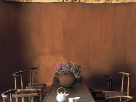 The idea of dining room design in Safari style