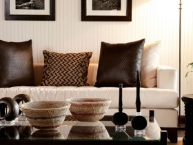Небольшая гостиная в стиле сафари