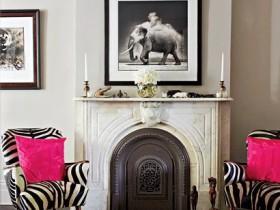 Fireplace in Safari style