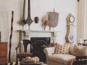 The elements of decor in Safari style