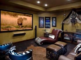 Домашний кинотеатр в стиле сафари