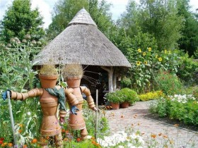 Garden sculpture in country style