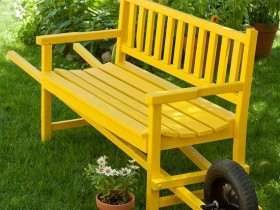 Bench in country style