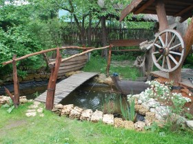 Garden bridge in country style