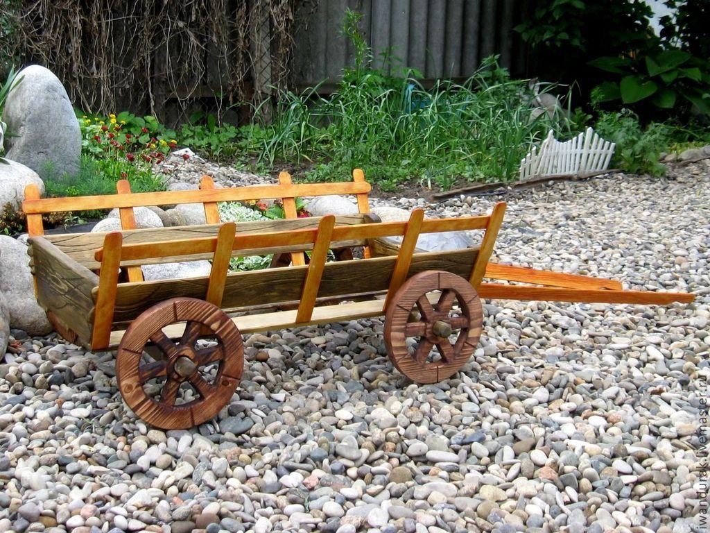 Декоративная телега для сада : как сделать своими руками, подробная