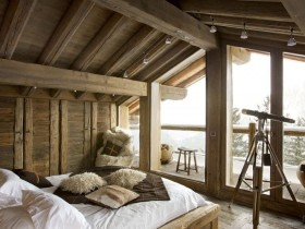 Bedroom for teenager in Chalet style