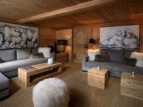 Stylish living room in Chalet style