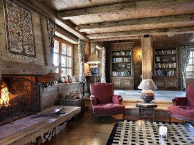 A traditional Chalet style in the interior