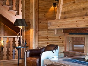 Interior design in Chalet style