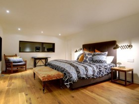 Large bright bedroom in a Chalet style