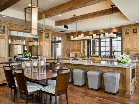 Large kitchen in Chalet-style