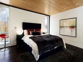 Modern bedroom design, the Chalet-style