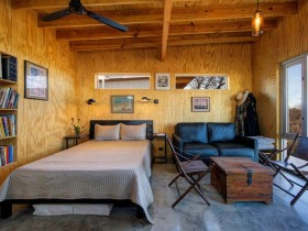 Bedroom interior in Chalet style