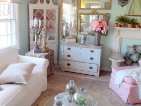 Living room design style shabby chic