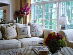 The style shabby chic cottage interior
