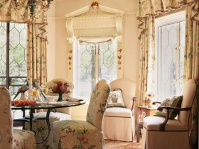 Shabby chic in the interior of a private house