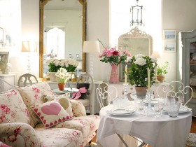 Beautiful interior in the style of shabby chic