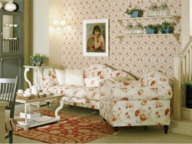 The design of the room in shabby chic style