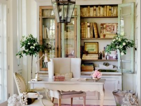 Interior of the private office in the shabby chic style