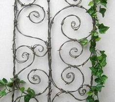 Садовая шпалеры з дроту