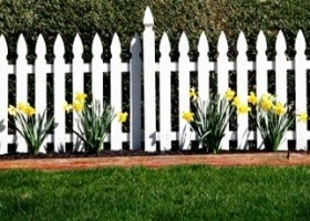 Picket fence with their hands