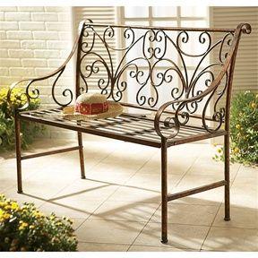 Пример скамейки из металла