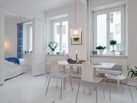 The idea of dining room design in Scandinavian style