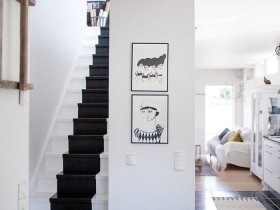 Staircase in a Scandinavian style