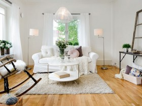 The interior of living room in Scandinavian style