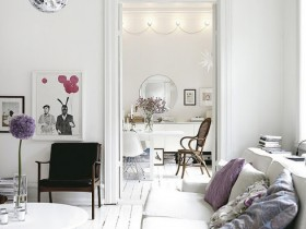 Apartment interior in Scandinavian style