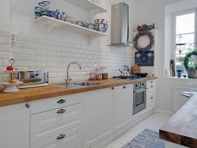 Kitchen interior in Scandinavian style