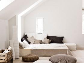 Bedroom interior in Scandinavian style